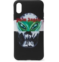 Palm Angels Printed Rubber Iphone X Case Black