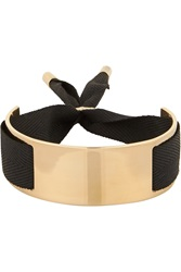 Marc By Marc Jacobs Gold Plated And Grosgrain Ribbon Bracelet
