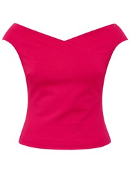 Ted Baker Teimah Cropped Bardot Top Bright Pink