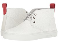 Del Toro High Top Laser Cut Chukka Sneaker White Leaf Men's Shoes