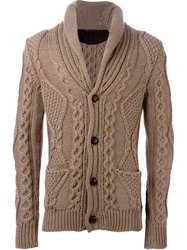 Roberto Collina Cable Knit Cardigan Brown