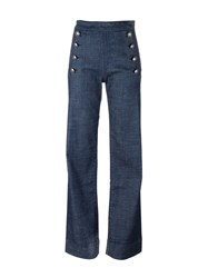Tommy Hilfiger Straight Leg High Waisted Jeans Blue