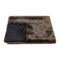 Helen Moore Faux Fur Throw 180X145cm Signature Treacle