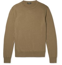 Berluti Silk And Cotton Blend Sweater Green