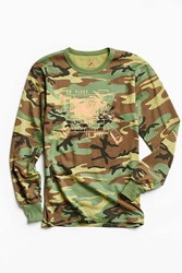 Division Of Labor No Place To Hide Long Sleeve Tee Green Multi