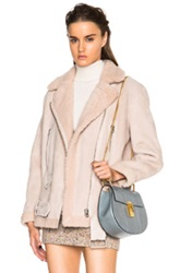 Acne Studios More Shearling Jacket In Pink