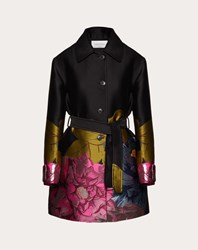 Valentino Brocade Coat Multicoloured Polyester 100