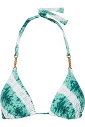Vix Swimwear Embellished Printed Triangle Bikini Top Multi