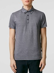 Topman Peter Werth Blue Polo Shirt
