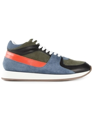 Kris Van Assche Panelled Lace Up Sneakers Multicolour