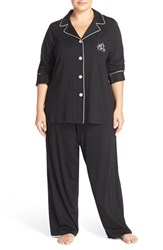 Plus Size Women's Lauren Ralph Lauren Knit Pajamas Black