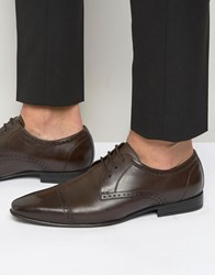 Frank Wright Toe Cap Oxford Shoes In Brown Brown