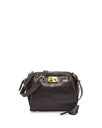 Etienne Aigner Epic Leather Shoulder Bag Black