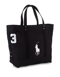 Polo Ralph Lauren Big Pony Canvas Tote Polo Black