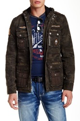 Affliction Army Of Us Zip Hooded Jacket Multi