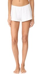 Only Hearts Club Pointelle Sleep Shorts White