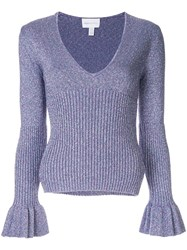 Alice Mccall Love Letters Knitted Top Purple