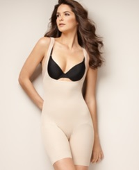 Naomi And Nicole Firm Control Unbelievable Comfort Long Leg Open Bust Body Shaper 7071 Nude