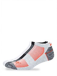 Puma Six Pack Colorblock Ankle Socks Grey Red