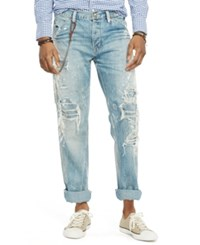 Denim And Supply Ralph Lauren Straight Fit Distressed Jeans Clayton