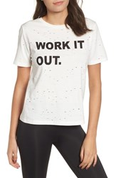 Kendall Kylie Work It Out Tee White