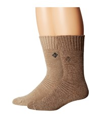 Columbia 2 Pack Brushed Fleece Lined Crew Brown Crew Cut Socks Shoes