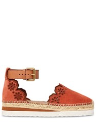 See By Chloe 40Mm Glynn Laser Cut Espadrilles Rust