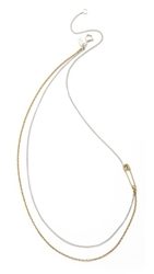 Wouters And Hendrix Pin Necklace Gold