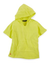 Ralph Lauren Hooded Terry Coverup Yellow