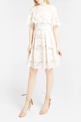 Elie Saab Women S Floral Lace Pleated Dress Boutique1 White