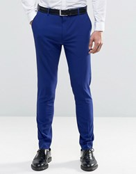 Selected Homme Super Skinny Suit Trousers Blue