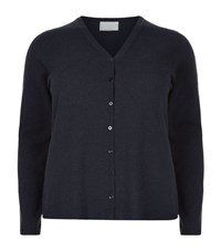 Marina Rinaldi Deep V Neck Cardigan Female Navy
