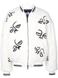 Haculla Facez Bomber Jacket White
