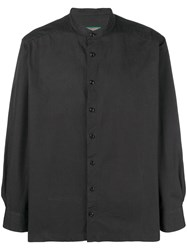 Casey Casey La Band Collar Shirt Black