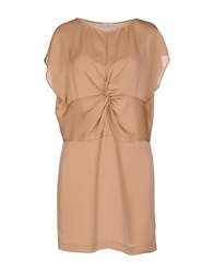Gold Case Dresses Short Dresses Women Camel