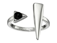 French Connection Open Dagger Ring Silver Black Ring Gray