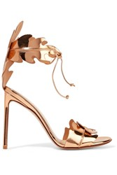 Francesco Russo Metallic Leather Sandals Gold
