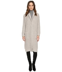 Manila Grace Sweater Coat Light Grey Women's Coat Gray