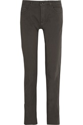Rick Owens Berlin Mid Rise Straight Leg Jeans Gray