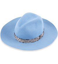 Superduper Hats Super Duper Wool Fedora Hat Light Blue