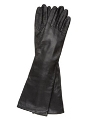 Charter Club Long Leather Gloves Black