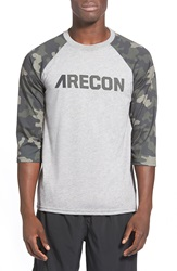 Athletic Recon 'Arecon' Three Quarter Raglan Sleeve Baseball T Shirt Army