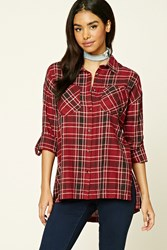 Forever 21 Plaid Button Front Shirt