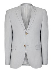 Topman Grey Lightweight Cotton Skinny Fit Blazer