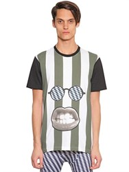 House Of Holland Bruce Striped Cotton Jersey T Shirt
