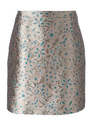 Lanvin Embroidered Floral Effect Skirt Green