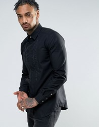 Diesel S Lucia Embriodered Ruffle Slim Fit Shirt White
