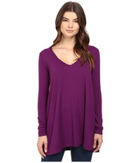 Susana Monaco Vee Top Montepulciano Women's Clothing Purple