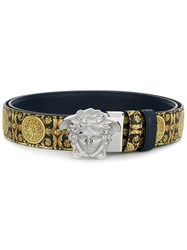 Versace 3D Medusa Buckle Belt Yellow And Orange