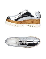 Cult Lace Up Shoes Silver